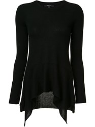 Derek Lam Draped Front Jumper Black