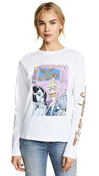 Olympia Le Tan I Do My Own Thing Long Sleeve Tee White