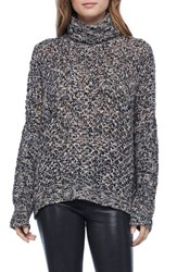Michael Stars Women's Open Knit Turtleneck Sweater