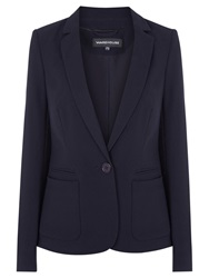 Warehouse Textured Tailored Blazer Navy