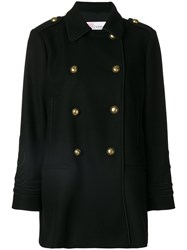 Red Valentino Classic Fitted Coat Women Polyamide Polyester Acetate Wool 40 Black