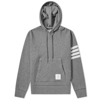 Thom Browne Shell Back Cashmere Pullover Hoody Grey
