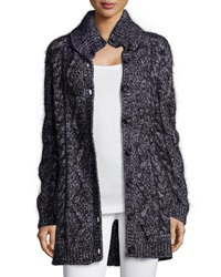 Red Valentino Chunky Wool Blend Long Cardigan