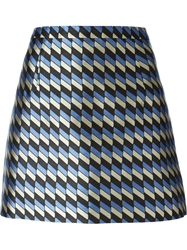 Christopher Kane Checked Mini Skirt Multicolour