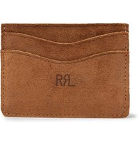 Rrl Roughout Suede Cardholder Brown