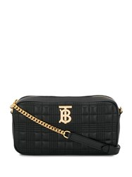 Burberry Quilted Check Tb Camera Bag Black