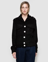 Frankie Mohair Denim Seamed Jacket Black