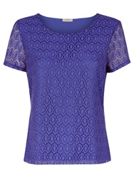 Planet Circle Lace Top Mid Purple