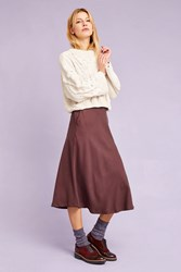 Selected Massia Midi Skirt Brown