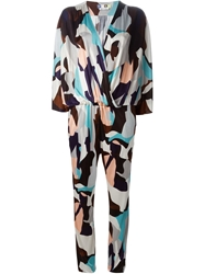 Msgm Graphic Print Jumpsuit