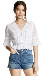 Temptation Positano Crop 3 4 Sleeve Top With Lining White