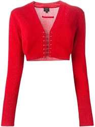 Jean Paul Gaultier Vintage Cropped Cardigan Red