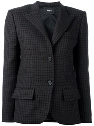 Yang Li Checked Blazer Brown