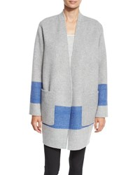 Rag And Bone Elgin Reversible Open Front Blanket Coat Blanc Black Blanc Black