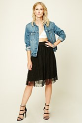 Forever 21 Floral Lace Overlay Skirt