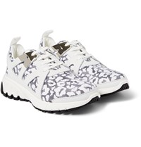 Neil Barrett Leopard Print Leather And Neoprene Sneakers