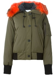 Kenzo Feather Down Coat Green