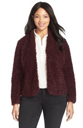 Plus Size Women's Sejour Fuzzy Textured Jacket