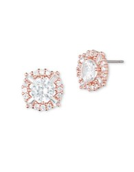 Anne Klein Cubic Zirconia Round Stud Earrings Pink