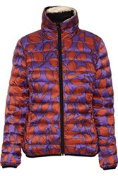 Just Cavalli Kaban Reversible Quilted Printed Shell Jacket Purple