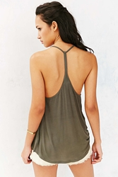 Silence And Noise Silence Noise Lina Racerback Tank Top Green