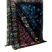 Ted Baker Unity Floral Long Silk Scarf Black