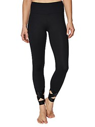 Betsey Johnson Banded Cutout Ankle Leggings Light Heat