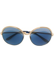 Elie Saab Oversized Shape Sunglasses Blue