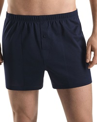 Hanro Sporty Knit Boxers Midnight Navy Midnight Navy Large