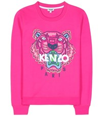 Kenzo Embroidered Cotton Sweatshirt Pink