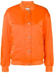 Calvin Klein Jeans Classic Bomber Jacket Yellow And Orange