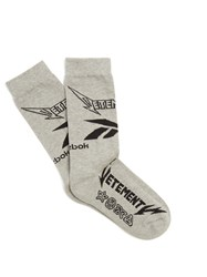 Vetements X Reebok Metal Cotton Blend Socks Grey