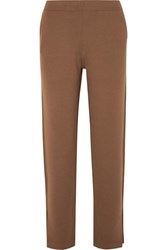 Allude Wool Track Pants Brown