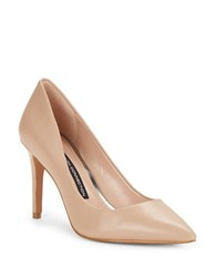 French Connection Rosalie Point Toe Pumps Almost Nude