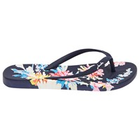 Joules Whitstable Floral Flip Flops Navy
