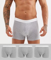 New Look Trunks In Grey 3 Pack