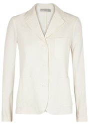 Vince Off White Linen Blend Blazer Cream