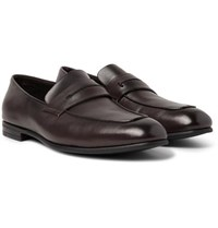 Ermenegildo Zegna L'asola Leather Penny Loafers Dark Brown