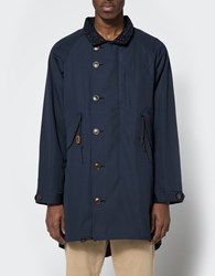 The Hill Side All Weather Mill Overcoat Navy