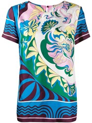 Emilio Pucci Printed Shortsleeved Blouse 60