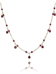 Annoushka Nectar Cherry Droplet 18Ct Yellow Gold And Ruby Necklace