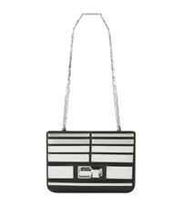 Elie Saab Small Metal Plaque Shoulder Bag Female Black