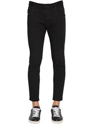 Dsquared 16Cm Skater Cotton Denim Jeans Black