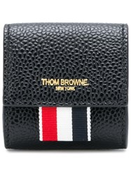 Thom Browne Clasped Leather Small Coin Case Black