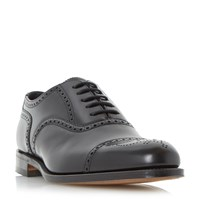Loake Overton Oxford Semi Brogue Shoes Black