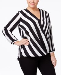 Alfani Plus Size Striped Surplice Top Only At Macy's Vertical Bars