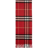 Burberry Red Giant Icon Check Scarf