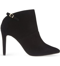 Reiss Arabesque Suede Heeled Ankle Boots Black