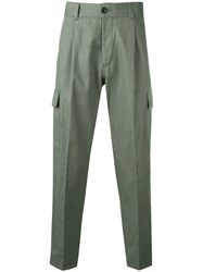 Pt01 Feather Charm Trousers Green
