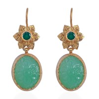 Emma Chapman Jewels Bodhi Chrysoprase Earrings Green